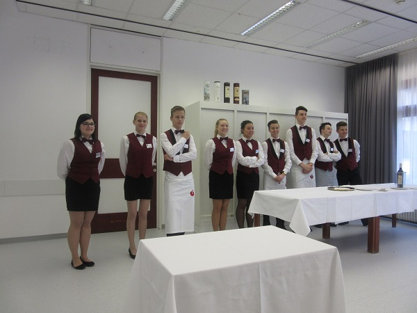 TMS-Schüler bei der Schulpräsentation